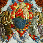 Part 1 Louvre - Sandro Botticelli (1444 or 1445-1510) -- Madonna and Child among Angels, with Saints Mary Magdalen and Bernard