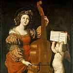 Part 1 Louvre - Domenichino -- Saint Cecilia with an Angel Holding Music