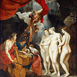 Part 1 Louvre - Peter Paul Rubens -- Education of Marie de' Medici (Apollo and Mercury lead her in music and eloquence while Minerva teachers her to read and the Three Graces offer beauty)