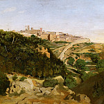 Part 1 Louvre - Corot, Jean-Baptiste Camille -- Volterra, le municipe-Volterra, Italy, 1834. See also 40-11-10/68 Canvas, 70, 5 x 94 cm R.F.1618