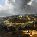 Auguste Forbin -- Jerusalem Seen from Mount Josaphat, Part 1 Louvre