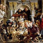 Jacob Jordaens the Elder -- Christ Expelling the Money-Changers from the Temple , Part 1 Louvre
