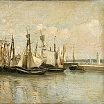 Entry to the port of La Rochelle, Jean-Baptiste-Camille Corot