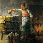 Part 1 Louvre - Millet, Jean-Francois -- La lessiveuse-the washerwoman. Canvas, 44 x 33 cm R.F. 1438