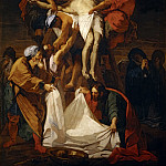 Jean-Baptiste Jouvenet -- Descent from the Cross, Part 1 Louvre