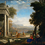 Claude Lorrain -- David crowned by Samuel, Part 1 Louvre