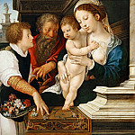 Part 1 Louvre - Bernaert van Orley -- Holy Family