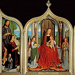 Gerard David -- Triptych of the Sedano Family, Part 1 Louvre