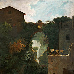 Part 1 Louvre - Fragonard, Jean-Honore -- Cascatelles de Tivoli-waterfalls of Tivoli, Rome. Canvas, 72, 5 x 60, 5 cm M.I.1110