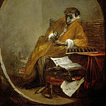 Part 1 Louvre - Chardin, Jean-Baptiste Simeon -- Le singe antiquaire-the monkey as collector of antiques. 1740 Canvas, 81 x 64, 5 cm Inv. 3206
