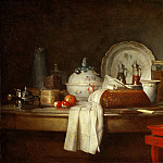 Part 1 Louvre - Jean-Siméon Chardin -- The Sideboard (Remains of a Lunch)