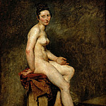 Part 1 Louvre - Delacroix, Eugene -- Sitting nude, also called Mlle. Rose (a professional model in the studio of Pierre-Narcisse Guerin). 1820 Canvas, 81 x 65 cm RF 1942-14