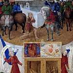 Part 1 Louvre - Jean Fouquet -- Saint Martin Sharing His Cloak with a Beggar, from the Book of Hours of Etienne Chevalier