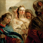 Christ and the Adulteress. Canvas, 112 x 179 cm R.F. 1975-1, Giovanni Domenico Tiepolo