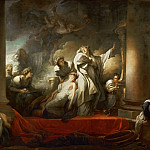Fragonard, Jean-Honore -- Le grand pretre Coresus se sacrifie pour sauver Callirhoe-the grand priest Coresus sacrifices himself to save Callirhoe Canvas, 309 x 400 cm INV. 4541, Part 1 Louvre