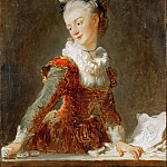 Fragonard, Jean-Honore -- Marie-Madeleine Guimard , prima ballerina of the Paris Opera. Canvas, 81, 5 x 65 cm R.F.1974-1, Part 1 Louvre