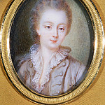 Part 1 Louvre - François Hubert Drouais -- Portrait of Mme Du Barry, bust-length, with powdered hair