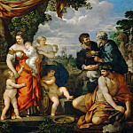 Pietro da Cortona -- Alliance between Jacob and Laban, Part 1 Louvre