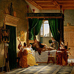 Pierre Henri Revoil -- The Convalescence of Bayard , Part 1 Louvre