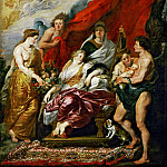 Peter Paul Rubens -- Medici Cycle: Birth of Louis XIII at Fontainebleau on September 27, 1601, Part 1 Louvre