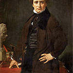 Ingres, Jean Auguste Dominique -- Lorenzo Bartolini , sculptor. Painted in Florence 1820 Canvas, 108 x 85.5 cm R.F. 1942-24, Part 1 Louvre