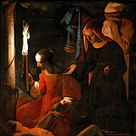 Georges de la Tour -- Saint Sebastian Tended by Irene, Part 1 Louvre