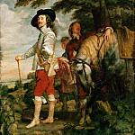 Anthony van Dyck -- Charles I in the Hunting Field , Part 1 Louvre