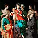 Part 1 Louvre - Pontormo (1494-1557) -- Virgin with Saint Anne and Four Saints