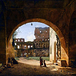 François-Marius Granet -- Interior view of the Colosseum in Rome, Part 1 Louvre