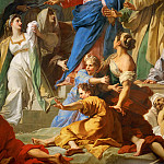 Jean-Baptiste Jouvenet -- Raising of Lazarus, detail: Christ, Part 1 Louvre
