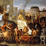 Charles Le Brun -- Entry of Alexander in Babylon , Part 1 Louvre