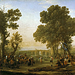 Part 1 Louvre - Claude Lorrain -- Village Festival