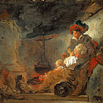 Part 1 Louvre - Fragonard, Jean-Honore -- Le songe du mendiant. The beggar's dream. Canvas, 74 x 92 cm RF 1988-17