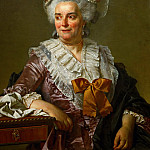 Part 1 Louvre - David, Jacques Louis -- Genevieve Jacqueline Pecoul, the painter's mother-in-law. Oil on canvas (1784) 92 x 72 cm Inv. 3707