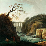 Robert, Hubert -- Paysage avec aqueduc et torrent-Landscape with aqueduct and torrent. Canvas, 77 x 93 cm M.N.R.898, Part 1 Louvre