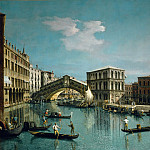 Canaletto -- The Rialto Bridge, Venice, Part 1 Louvre