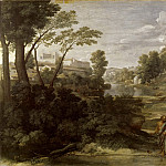 Nicolas Poussin -- Landscape with Diogenes Renouncing His Bowl, Part 1 Louvre