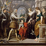 Peter Paul Rubens -- Medici Cycle: Henry IV Leaves for War in Germany and Confers Governing of the Kingdom on the Queen, March 20, 1610, Part 1 Louvre