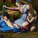 Part 1 Louvre - Giovanni Francesco Penni -- The Virgin and Child with the infant Saint John, called the Virgin of the Veil or the Virgin of the blue diadem