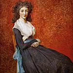 Part 1 Louvre - David, Jacques Louis -- Mme. Charles-Louis Trudaine (1769-1802) Canvas, 130 x 98 cm R.F. 670