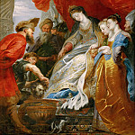 Peter Paul Rubens -- Tomyris Orders Cyrus's Head Lowered into a Vessel of Blood, Part 1 Louvre