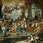 Francesco Solimena -- The Expulsion of Heliodorus from the Temple, Part 1 Louvre