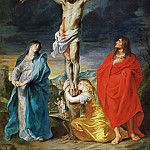 Anthony van Dyck -- Christ Crucified with the Virgin, Saint John and Mary Magdalene, Part 1 Louvre