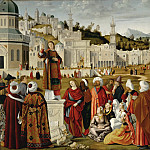 Vittore Carpaccio -- Sermon of Saint Stephen Outside the Walls of Jerusalem, Part 1 Louvre