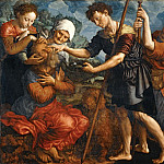 Part 1 Louvre - Jan van Hemessen (c. 1500-c. 1575) -- Tobias Restoring His Father's Sight