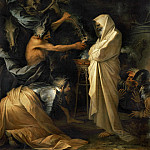 Salvator Rosa -- The Shade of Saul Appears Before Samuel in the House of the Woman of Endor, Part 1 Louvre