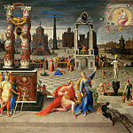 Antoine Caron -- Augustus and the Tiburtine Sibyl, Part 1 Louvre