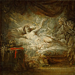Part 1 Louvre - Greuze, Jean-Baptiste -- Jupiter et Egine. Oil on canvas 33 x 41 cm MI 1068