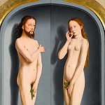 Part 1 Louvre - Gerard David -- Sedano Family Triptych, exterior panels: Adam and Eve