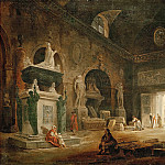 Robert, Hubert -- Vue d'une salle du Musee des Monuments Francais-view of a hall of the Museum of French Monuments. After 1798. Canvas, 38, 5 x 47 cm R.F.1952-32, Part 1 Louvre